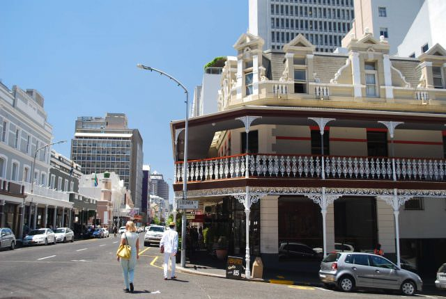 Historic Victorian buildings on Long Street in the heart of Cape Town