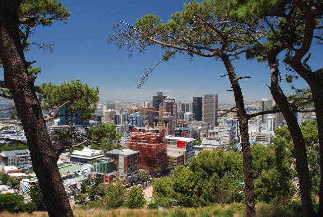 A view of downtown Cape Town from the top of Signal Mountain
