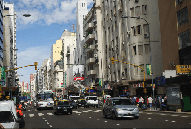Avenida Corientes is one of the main boulevards of central Buenos Aires
