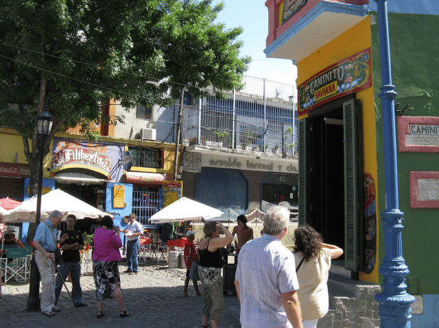 Colorful La Boca is the working class neighborhood where Tango was born