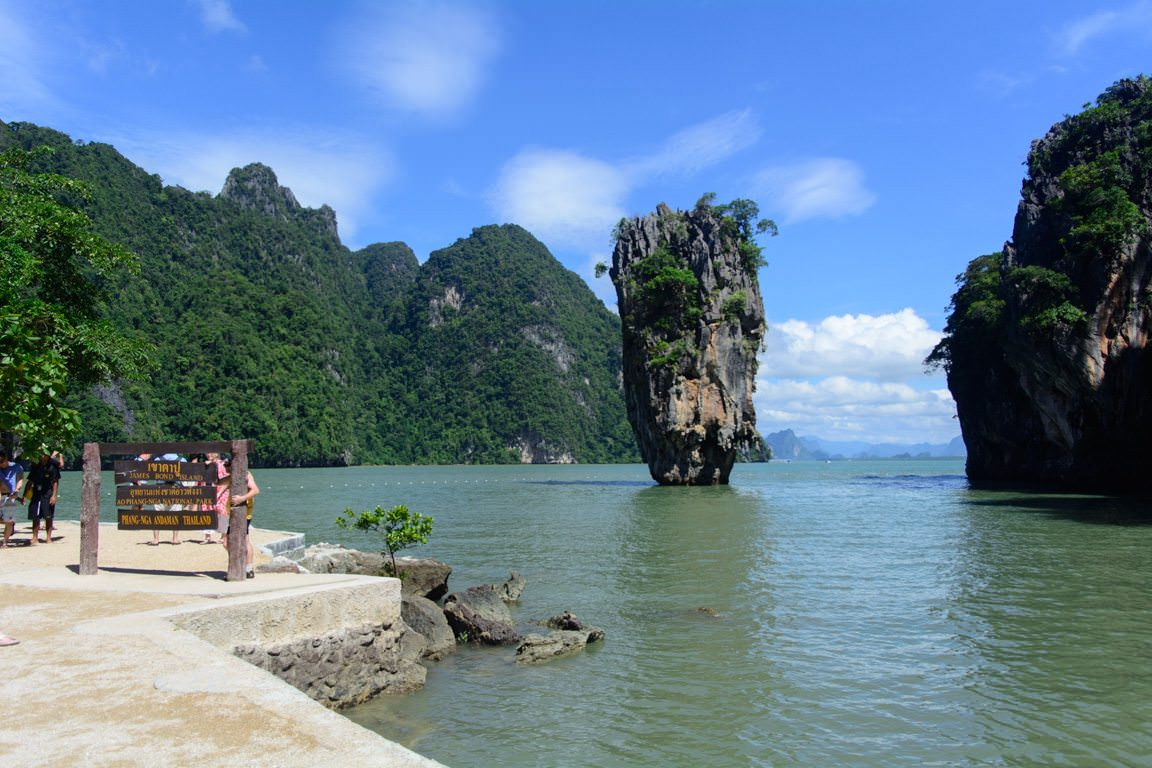 """One of our Silversea shore excursions in Phuket, Thailand brought us to """"James Bond Island"""", where the finale to """"The Man With The Golden Gun"""" was filmed. Photo © 2016 Aaron Saunders"""