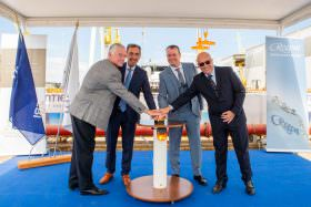 Seven Seas Splendor Keel Laying Ceremony Takes Place