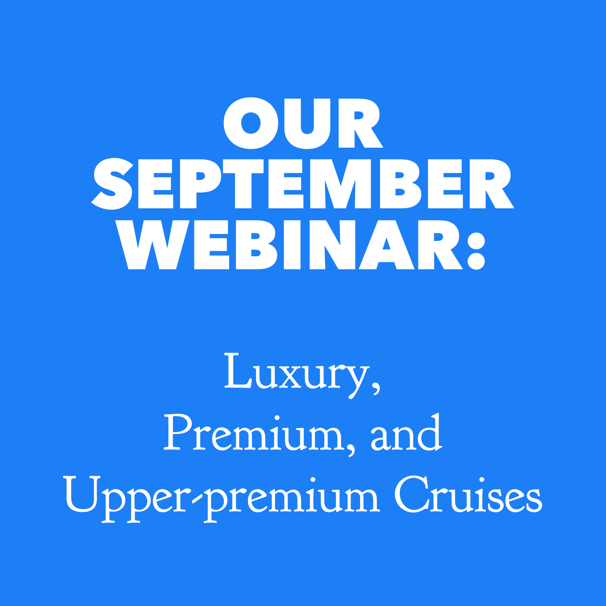 SAVE THE DATE: Our Sept. 11th Webinar