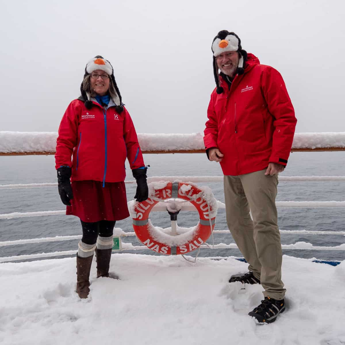 Ralph Grizzle and Britton Front in Antarctica