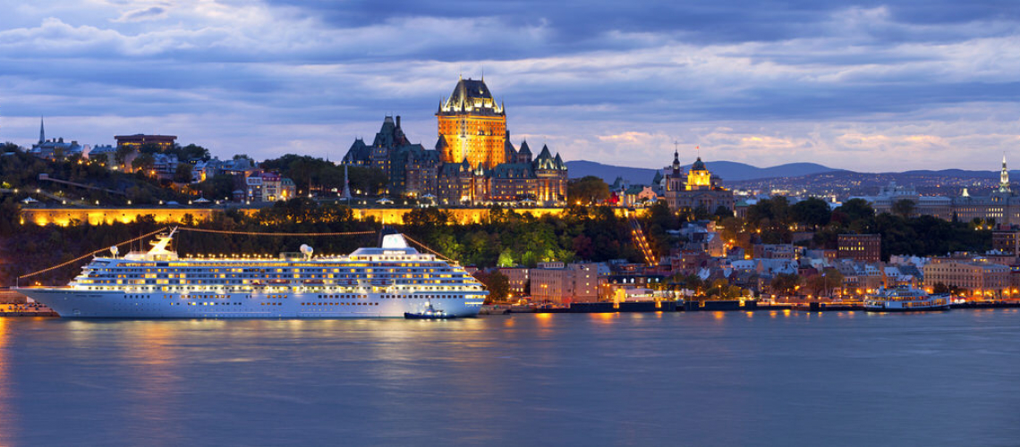 Crystal Symphony docked in Quebec City. Photo courtesy of Crystal